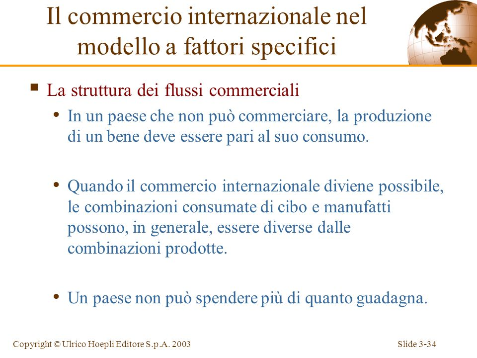 Slide 3-33Copyright © Ulrico Hoepli Editore S.p.A.