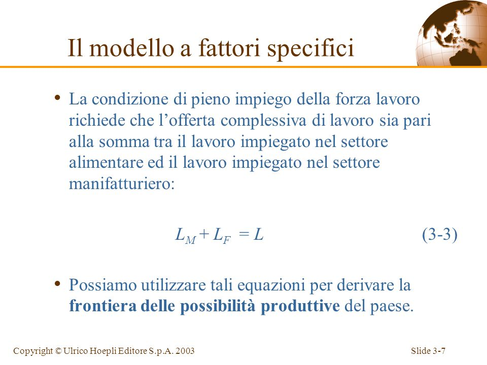 Slide 3-6Copyright © Ulrico Hoepli Editore S.p.A.