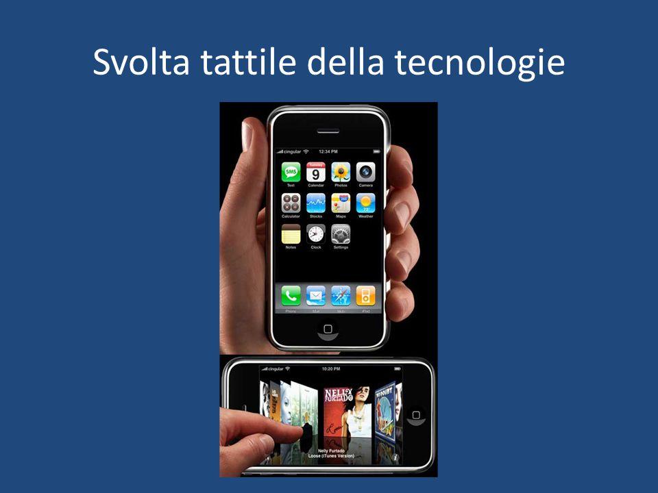 Svolta tattile della tecnologie