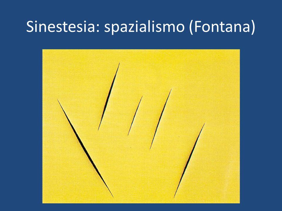 Sinestesia: spazialismo (Fontana)