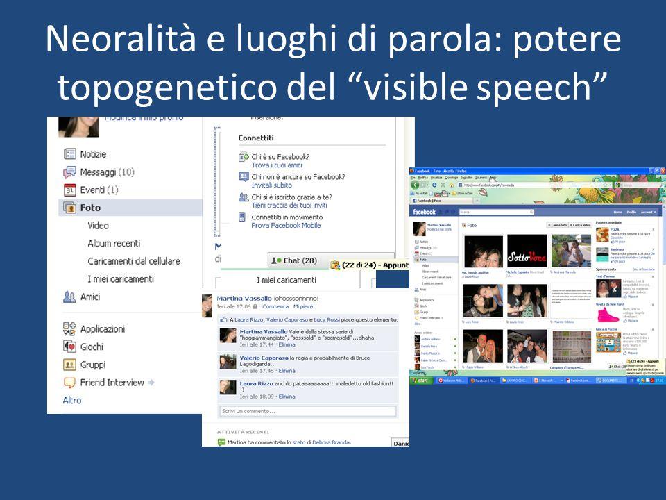 Neoralità e luoghi di parola: potere topogenetico del visible speech