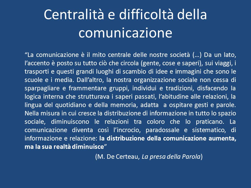 Comunicare: perché.