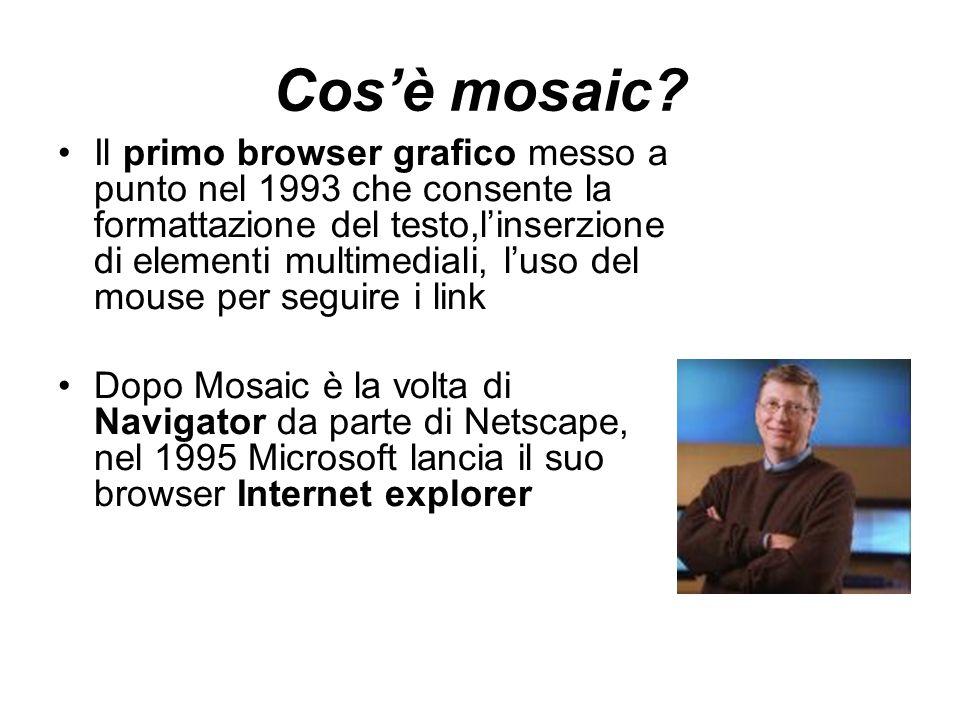 Cos'è mosaic.