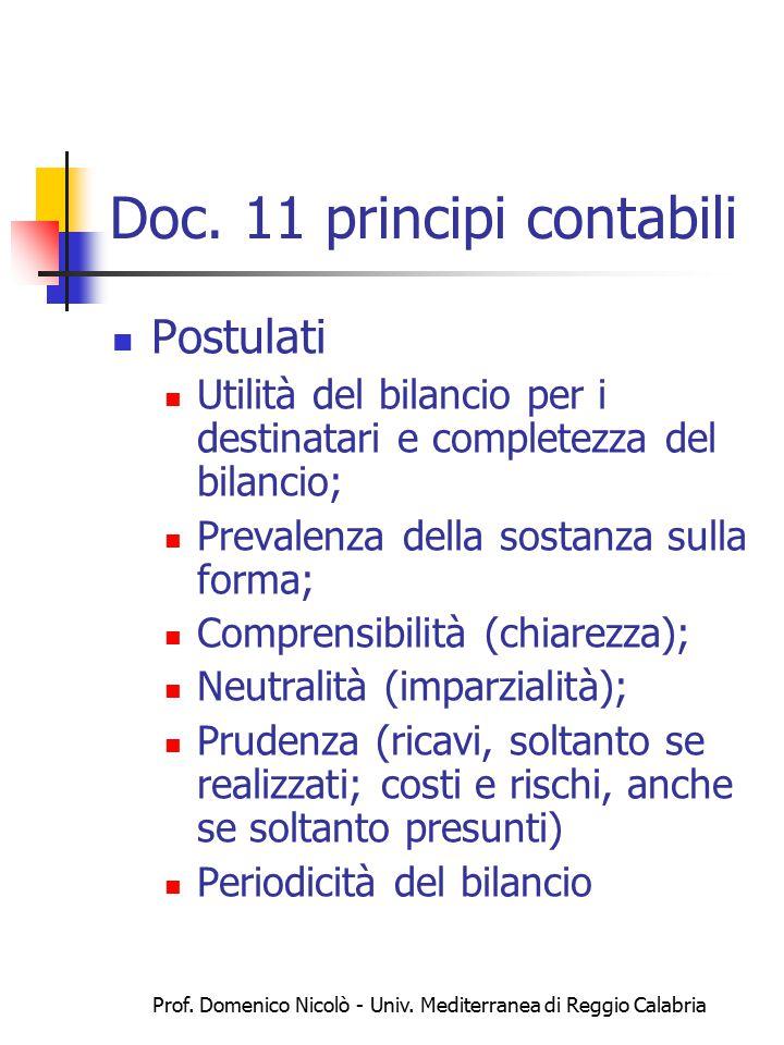 Prof.Domenico Nicolò - Univ. Mediterranea di Reggio Calabria Principi contabili doc.
