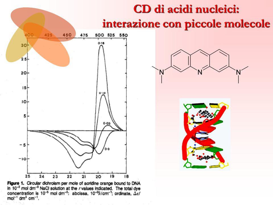 CD di acidi nucleici: interazione con piccole molecole