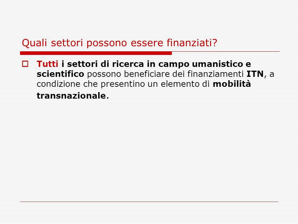 Cosa Finanzia  Ospitare o selezionare i ricercatori.