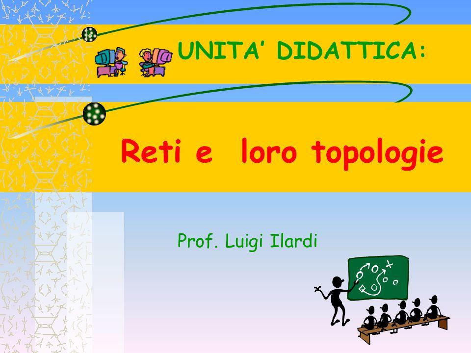 Reti e loro topologie Prof. Luigi Ilardi UNITA' DIDATTICA: