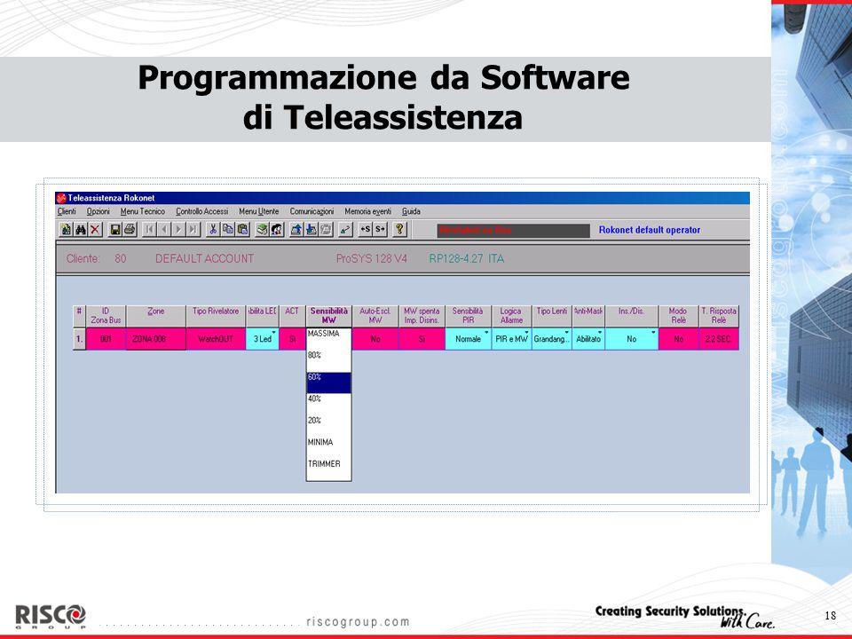 18 Programmazione da Software di Teleassistenza