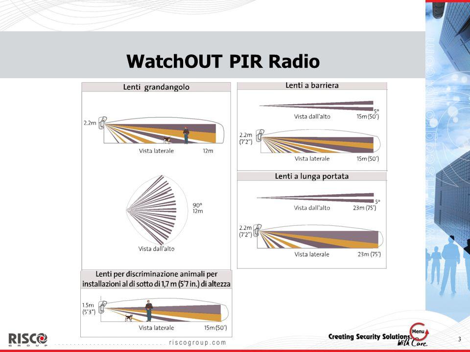 4 Modelli WatchOUT WatchOUT DT RK315DT0000A WatchOUT PIR RK312PR0000A WatchOUT PIR RADIO RWT312PR0000A