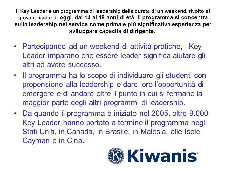 Il Key Leader è un programma di leadership della durata di un weekend, rivolto ai giovani leader di oggi, dai 14 ai 18 anni di età. Il programma si co
