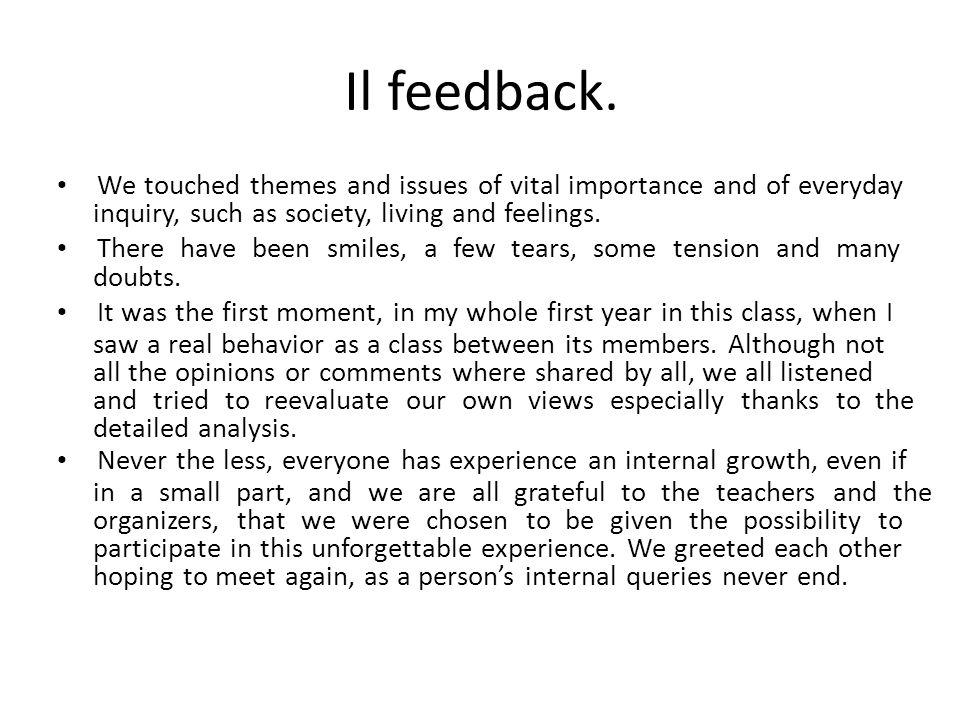 Il feedback.