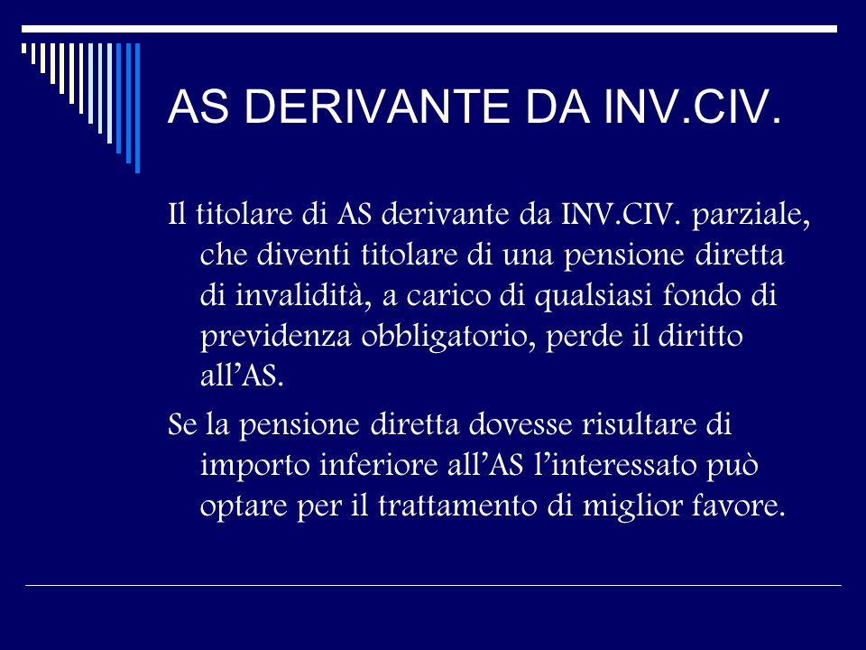 AS DERIVANTE DA INV.CIV. Il titolare di AS derivante da INV.CIV.