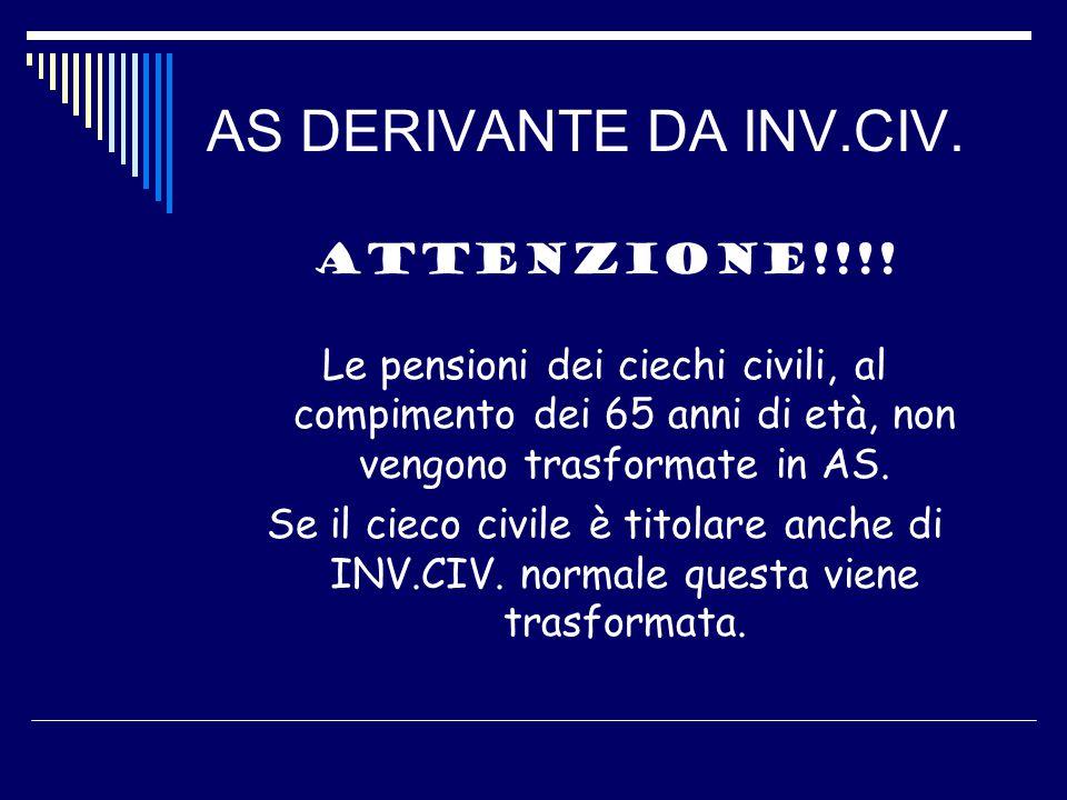 AS DERIVANTE DA INV.CIV. ATTENZIONE!!!.