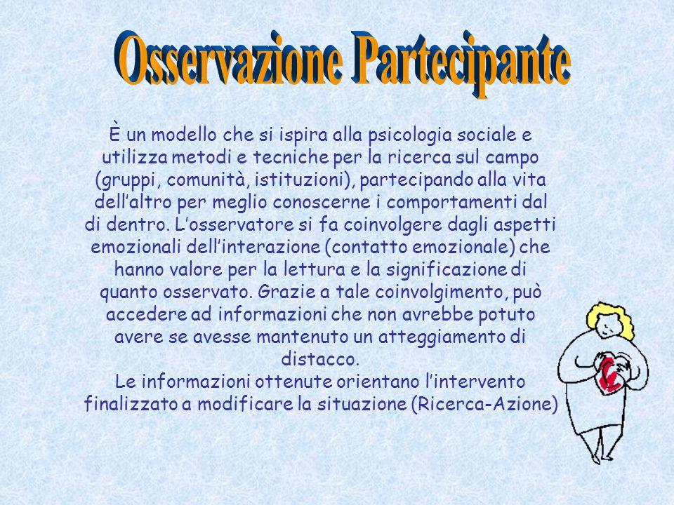 È un modello che si ispira alla psicologia sociale e utilizza metodi e tecniche per la ricerca sul campo (gruppi, comunità, istituzioni), partecipando
