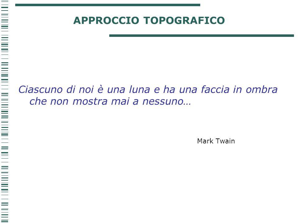 APPROCCIO TOPOGRAFICO Ciascuno di noi è una luna e ha una faccia in ombra che non mostra mai a nessuno… Mark Twain