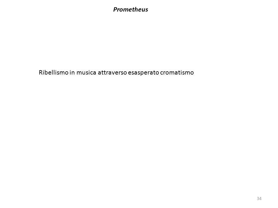 34 Prometheus Ribellismo in musica attraverso esasperato cromatismo