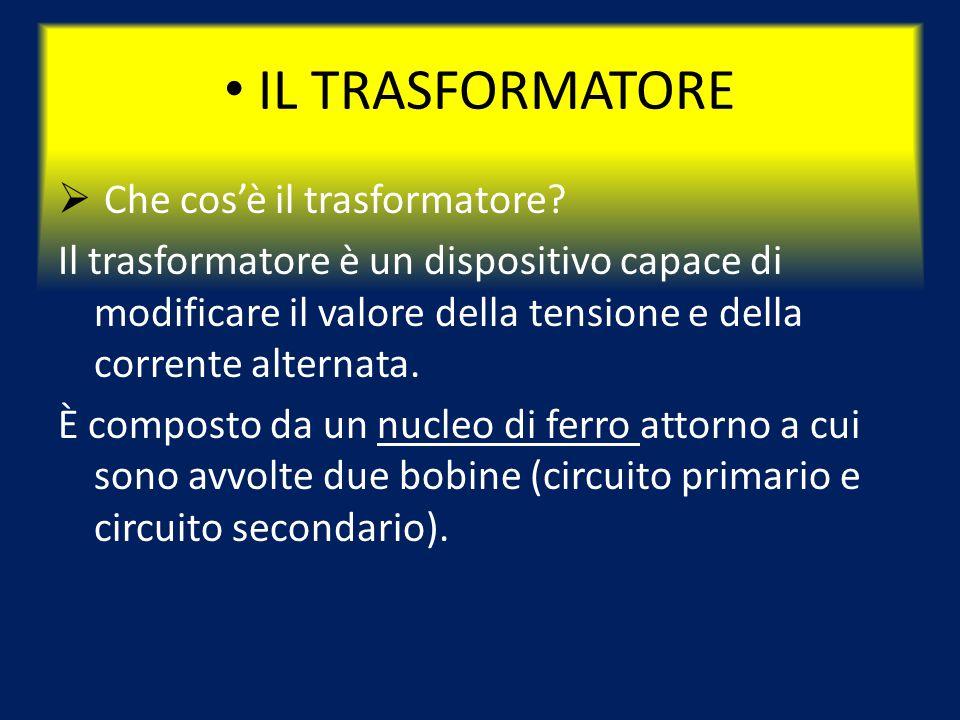 IL TRASFORMATORE  Che cos'è il trasformatore.