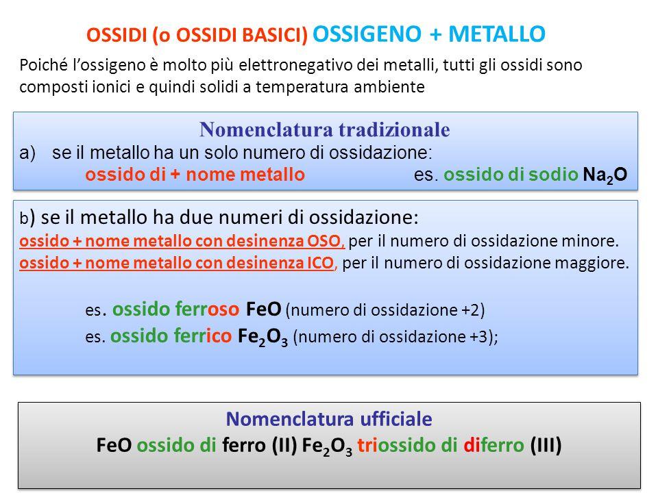 ANIDRIDI (o OSSIDI ACIDI) OSSIGENO + NON METALLO La differenza di elettronegatività tra l'ossigeno e non metalli è piccola; le anidridi sono quindi composti covalenti più o meno polari, che a temperatura ambiente possono essere solidi, liquidi o gassosi.