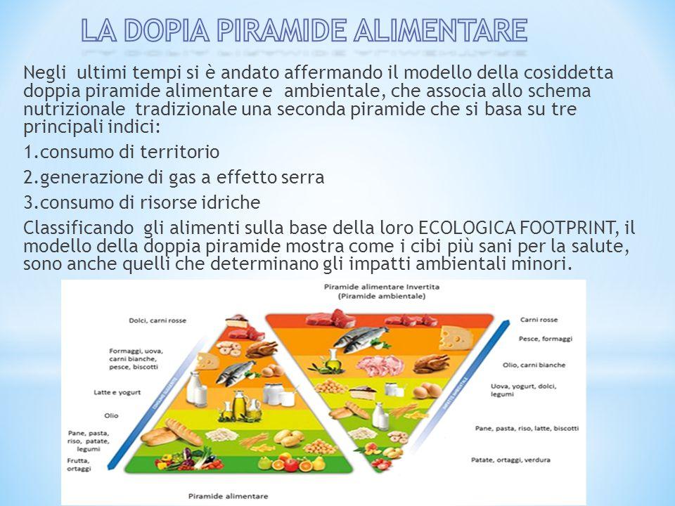 Negli ultimi tempi si è andato affermando il modello della cosiddetta doppia piramide alimentare e ambientale, che associa allo schema nutrizionale tr