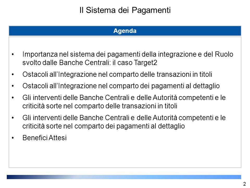 I benefici attesi di T2S Piena integrazione del mercato finanziario europeo.