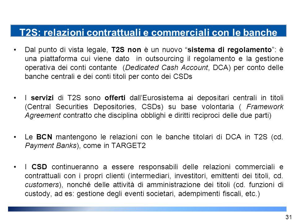 """Dal punto di vista legale, T2S non è un nuovo """"sistema di regolamento"""": è una piattaforma cui viene dato in outsourcing il regolamento e la gestione o"""