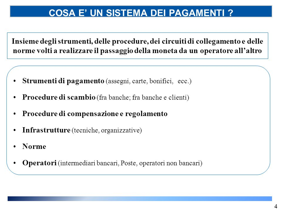 Recenti interventi normativi in ambito europeo (SSP) Direttiva 64/2007 (cd.