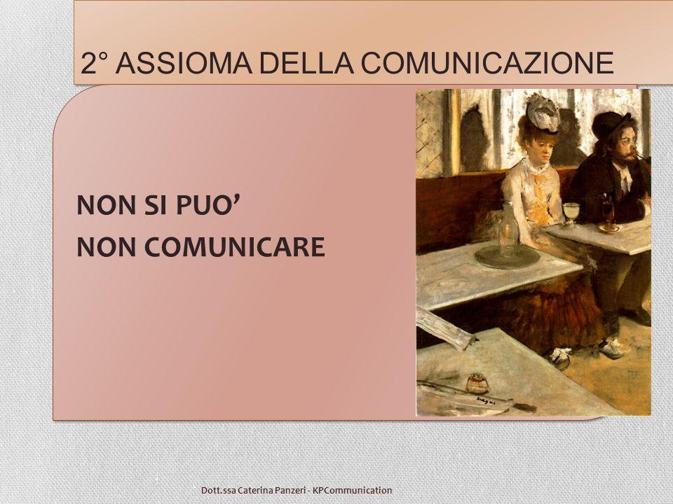 2° ASSIOMA DELLA COMUNICAZIONE Dott.ssa Caterina Panzeri - KPCommunication