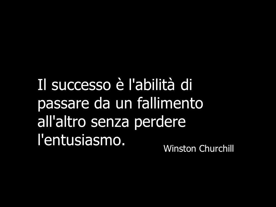 Il successo è l'abilità di passare da un fallimento all'altro senza perdere l'entusiasmo. Winston Churchill