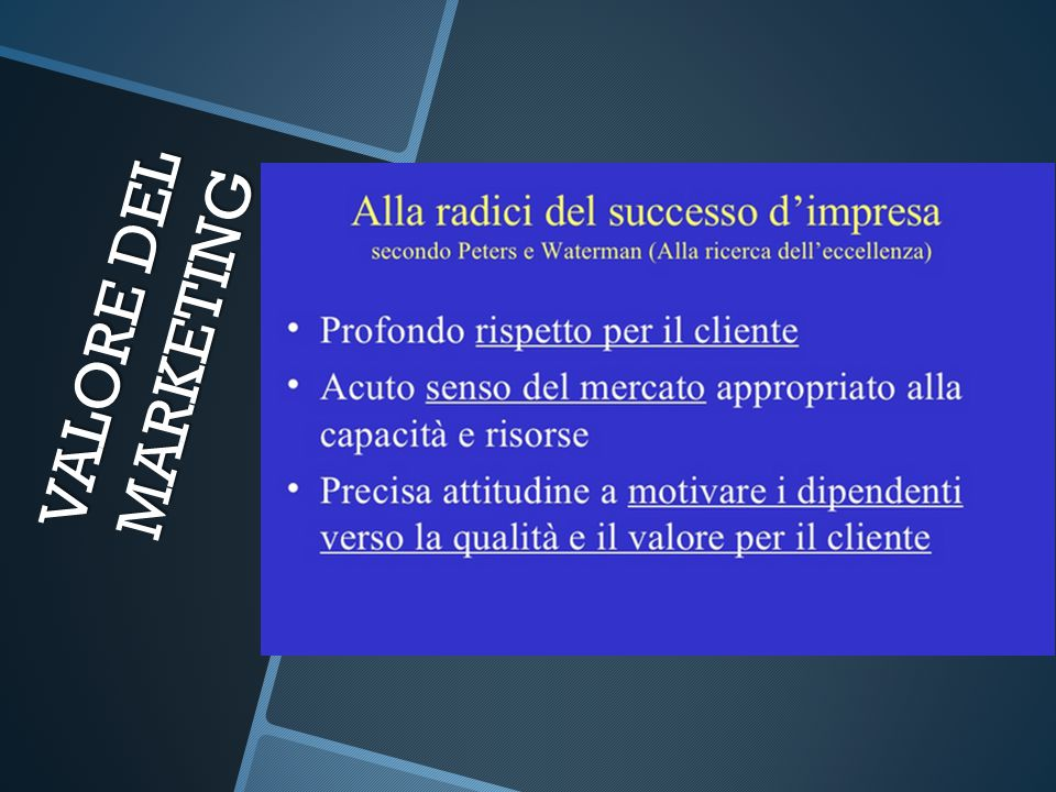VALORE DEL MARKETING