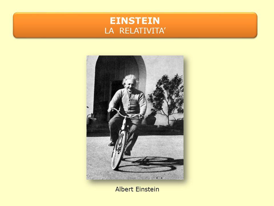 EINSTEIN LA RELATIVITA' EINSTEIN LA RELATIVITA' Albert Einstein