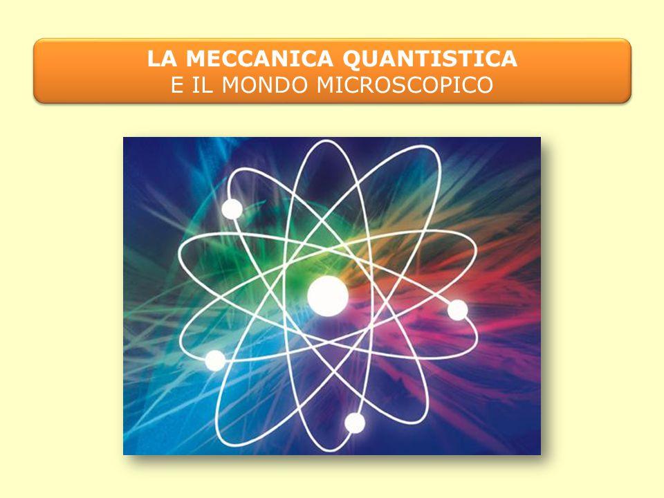 LA MECCANICA QUANTISTICA E IL MONDO MICROSCOPICO LA MECCANICA QUANTISTICA E IL MONDO MICROSCOPICO