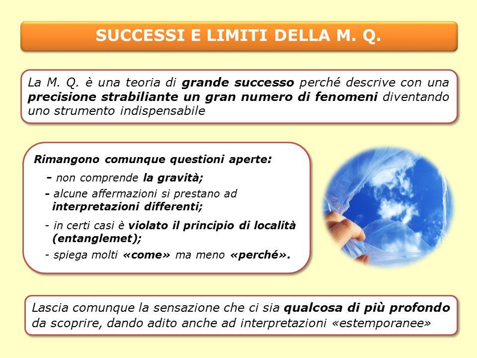 SUCCESSI E LIMITI DELLA M.Q.