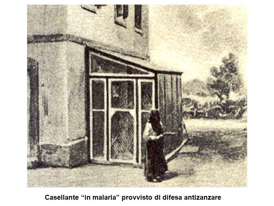 """Casellante """"in malaria"""" provvisto di difesa antizanzare"""