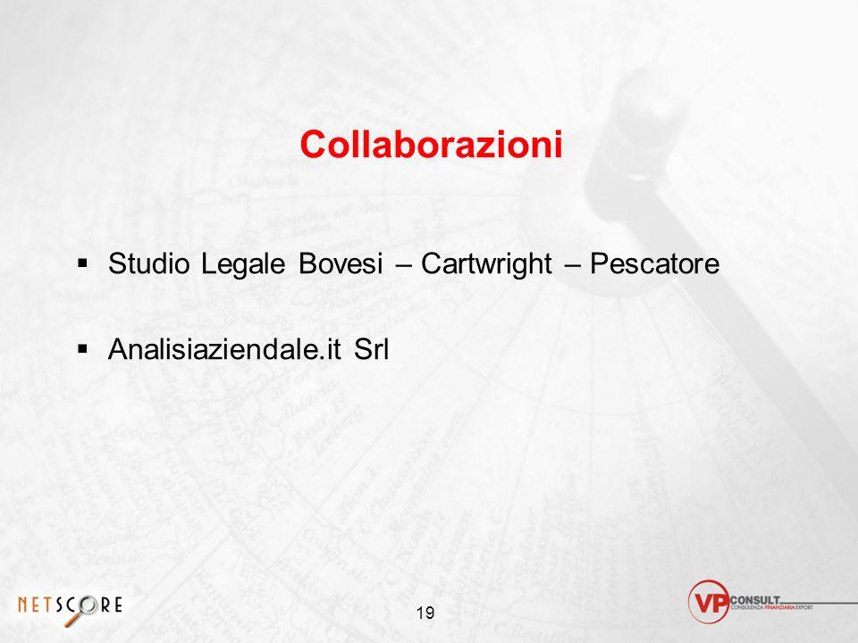 19 Collaborazioni  Studio Legale Bovesi – Cartwright – Pescatore  Analisiaziendale.it Srl