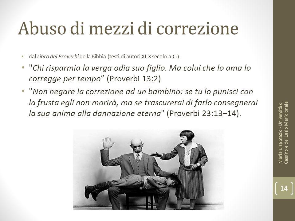 Abuso di mezzi di correzione dal Libro dei Proverbi della Bibbia (testi di autori XI-X secolo a.C.).