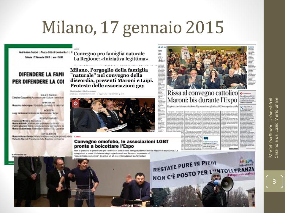 Milano, 17 gennaio 2015 Marialuisa Stazio - Università di Cassino e del Lazio Meridionale 3