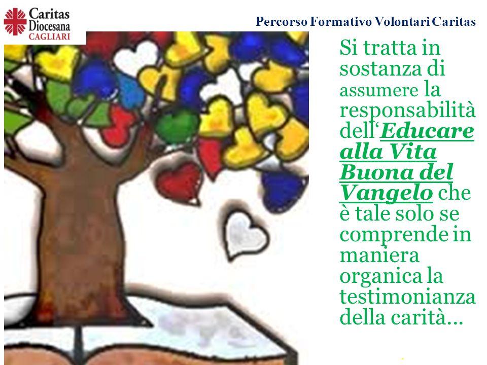 Si tratta in sostanza di assumere la responsabilità dell'Educare alla Vita Buona del Vangelo che è tale solo se comprende in maniera organica la testimonianza della carità...