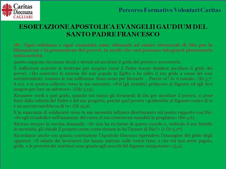 ESORTAZIONE APOSTOLICA EVANGELII GAUDIUM DEL SANTO PADRE FRANCESCO 187.