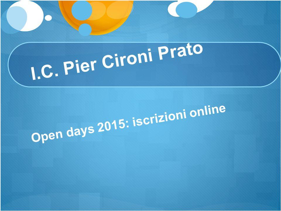 I.C. Pier Cironi Prato Open days 2015: iscrizioni online