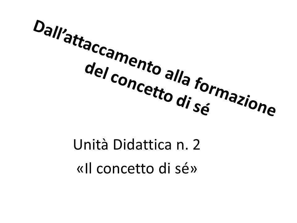 Dall'attaccamento alla formazione del concetto di sé Unità Didattica n. 2 «Il concetto di sé»