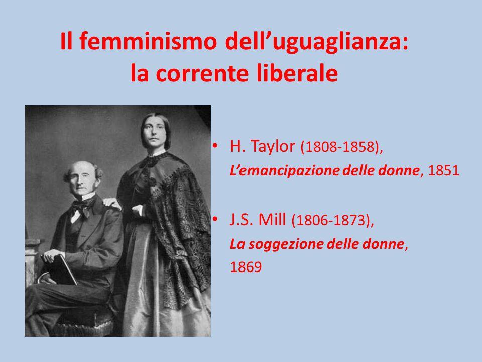 Il femminismo dell'uguaglianza: la corrente liberale H.