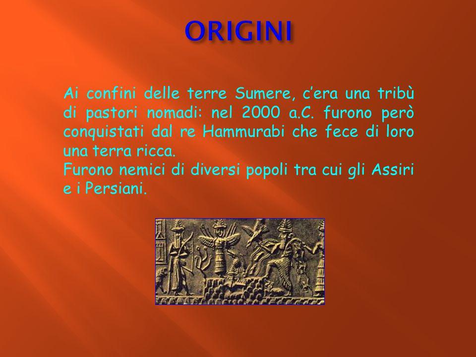 Ai confini delle terre Sumere, c'era una tribù di pastori nomadi: nel 2000 a.C. furono però conquistati dal re Hammurabi che fece di loro una terra ri