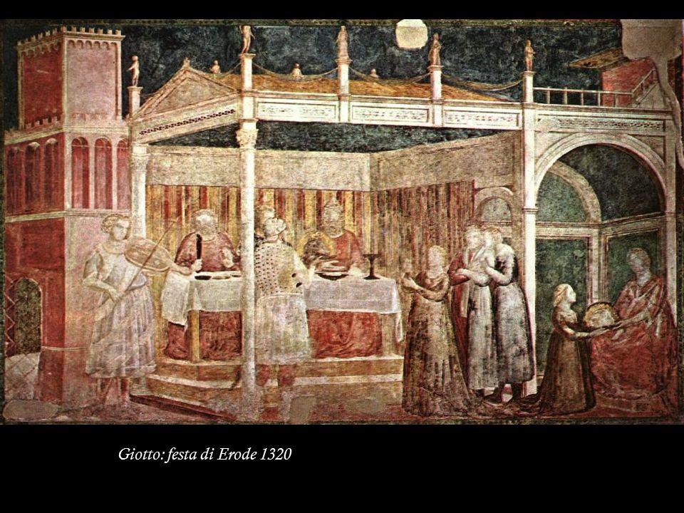 Giotto: festa di Erode 1320