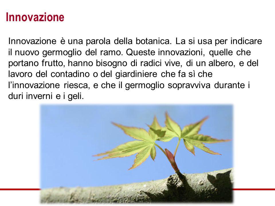 Innovazione Innovazione è una parola della botanica.
