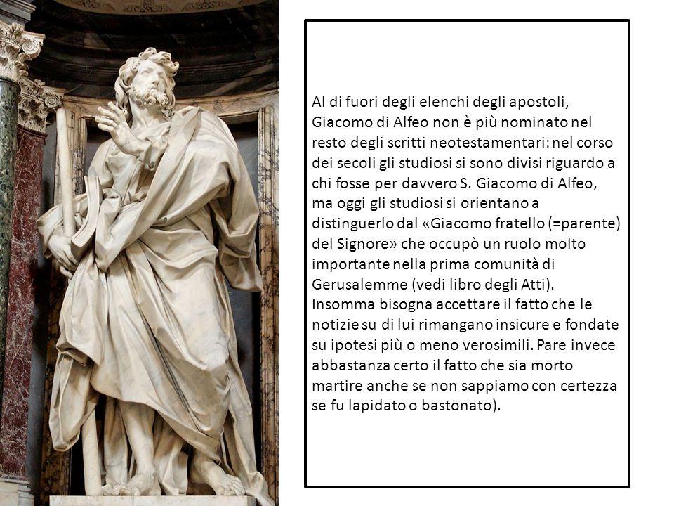 Al di fuori degli elenchi degli apostoli, Giacomo di Alfeo non è più nominato nel resto degli scritti neotestamentari: nel corso dei secoli gli studio