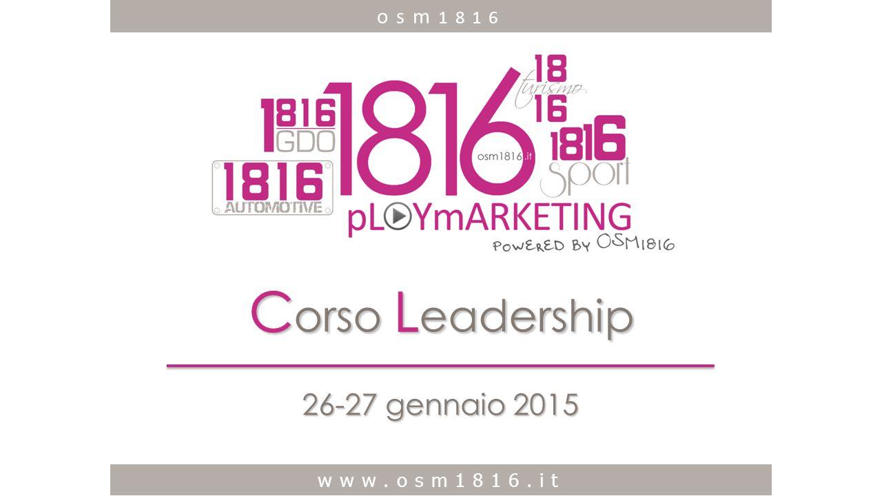 www.osm1816.it 26-27 gennaio 2015 www.osm1816.it osm 1816
