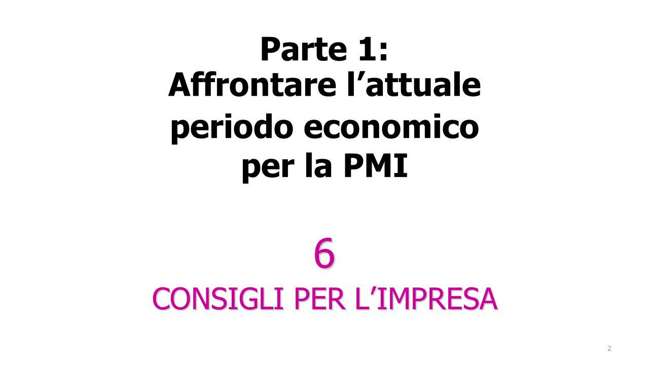 2 Parte 1: Affrontare l'attuale periodo economico per la PMI 6 CONSIGLI PER L'IMPRESA