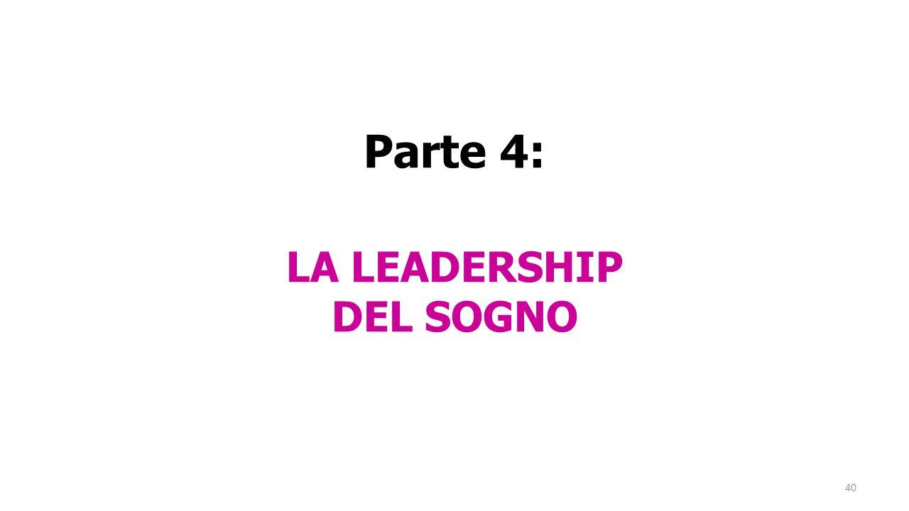 40 Parte 4: LA LEADERSHIP DEL SOGNO