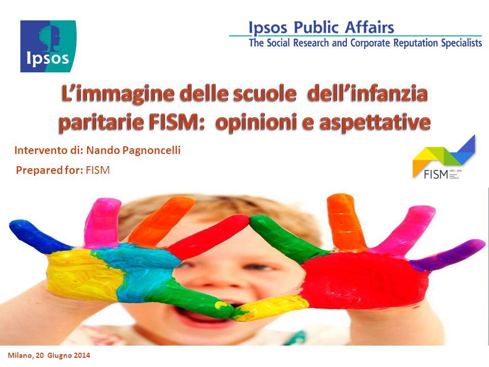 Intervento di: Nando Pagnoncelli Milano, 20 Giugno 2014 Prepared for: FISM
