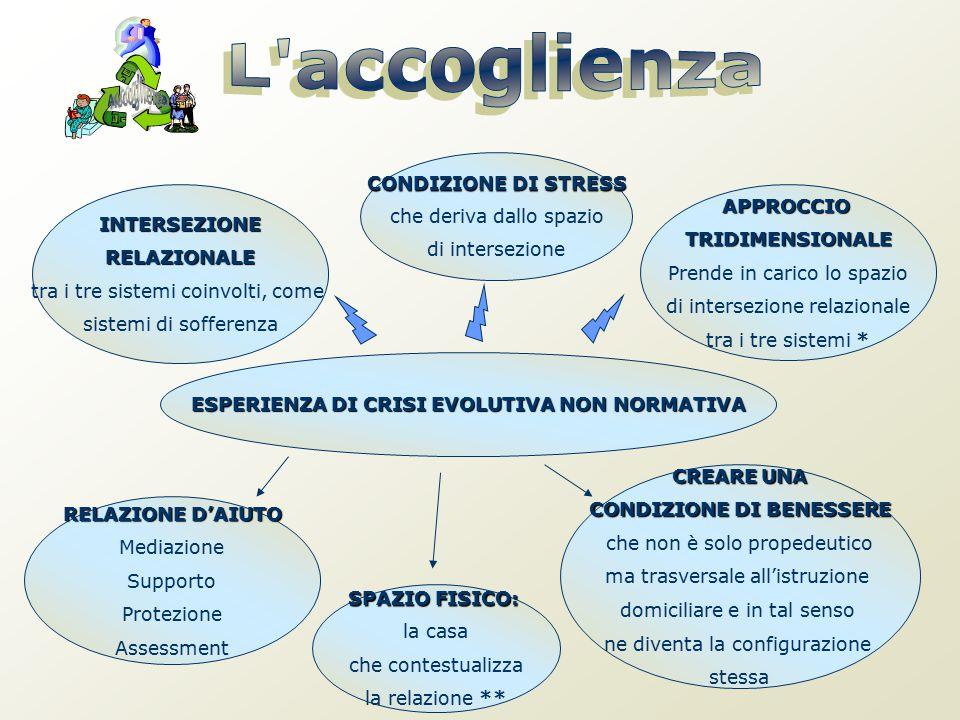 INTERSEZIONERELAZIONALE tra i tre sistemi coinvolti, come sistemi di sofferenza CONDIZIONE DI STRESS che deriva dallo spazio di intersezione APPROCCIO